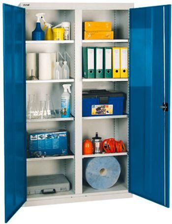Werkzeugschrank,Lichtgrau/enzian- blau, H 1800 x B 1000 x T 500 mm