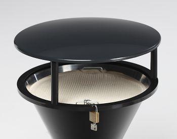 Dach für Kunststoff-Standascher schwarzgrau