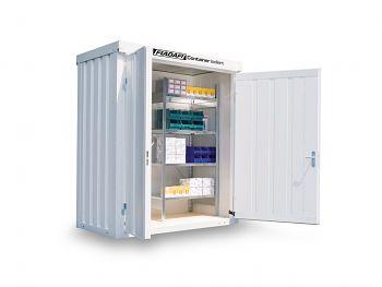 Isolierter Materialcontainer Mod.1100 kompl. montiert mit Holzfußboden