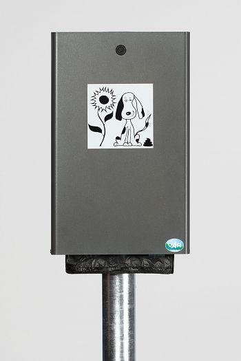 Hundekotbeutelspender Typ DS 2 für 200 Beutel, eisenglimmer besch.