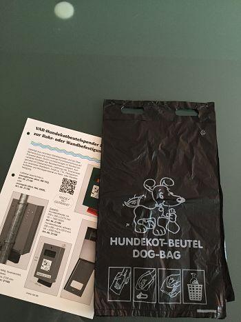 Hundekotbeutel schwarz VE = 2000 Stck.