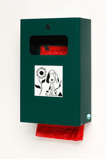 Hundekotbeutelspender DS 6 moosgrün beschichtet