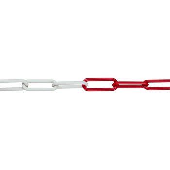 Sperrkette aus Nylon, r/w 6 mm, 1 Bund = 50 mtr.
