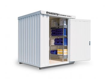 Isolierter Materialcontainer Mod.1200 kompl. montiert mit Isolierboden