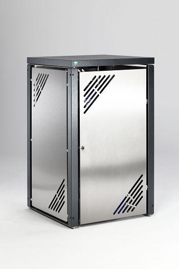 Müllbehälterschrank MBS 1 Grundelement mit Deckel, Edelstahl