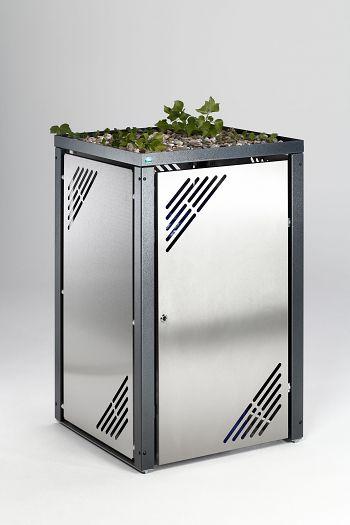Müllbehälterschrank MBS 6 Grundelement mit Pflanzdeckel,