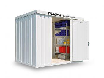 Isolierter Materialcontainer Mod.1300 kompl. montiert mit Holzfußboden