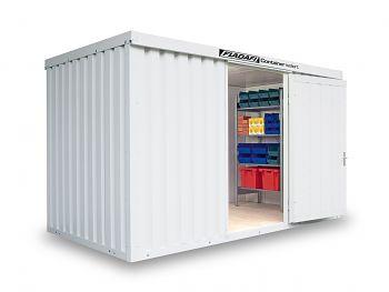 Isolierter Materialcontainer Mod.1400 kompl. montiert mit Holzfußboden