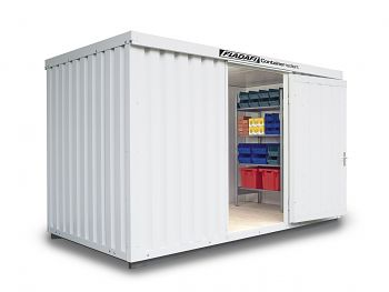 Isolierter Materialcontainer Mod.1400 kompl. montiert mit Isolierboden