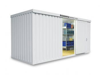 Isolierter Materialcontainer Mod.1500 kompl. montiert mit Holzfußboden