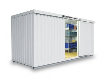 Isolierter Materialcontainer Mod.1500 kompl. montiert mit Isolierboden