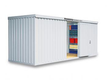 Isolierter Materialcontainer Mod.1600 kompl. montiert mit Holzfußboden