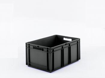 Euro-Kasten, leitfähig/schwarz LxBxH 600x400x285 mm