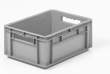 Mehrwegbehälter, 400x300x170mm grau, Boden-u.Seiten geschlossen