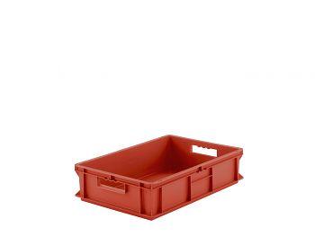 Mehrwegbehälter, 600x400x140mm rot, Boden-u.Seiten geschlossen