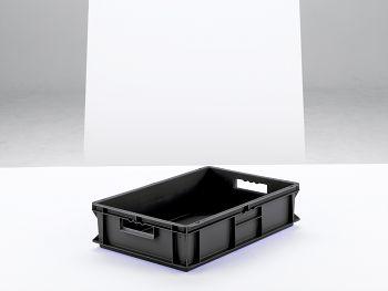 Euro-Kasten, leitfähig/schwarz LxBxH 600x400x140 mm