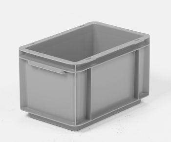 Mehrwegbehälter, 300x200x170mm grau, Boden-u.Seiten geschlossen