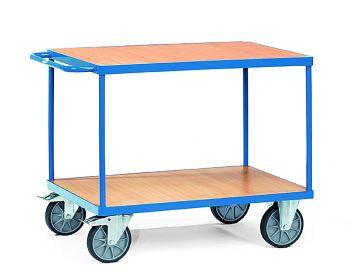 Schwerer Tischwagen mit 2 Böden Ladefläche 1000 x 600 mm