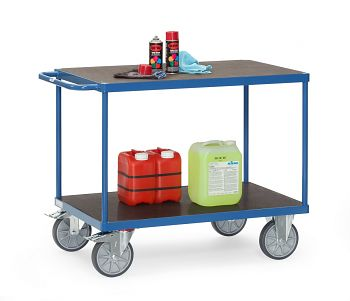 Tischwagen mit Siebdruckplatte Ladefläche L x B: 1200 x 800 mm