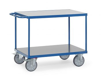 Tischwagen mit Hart-PVC-Platte Ladefläche L x B: 1200 x 800 mm