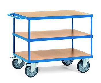 Schwerer Tischwagen mit 3 Böden Ladefläche 1000 x 700 mm