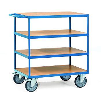Schwerer Tischwagen mit 4 Böden Ladefläche 1000 x 700 mm