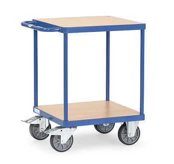 Schwerer Tischwagen mit 2 Böden Ladefläche  600 x 600mm