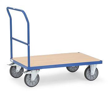 Schiebebügelwagen Plattform Holz Ladefläche LxB: 1200 x 800 mm
