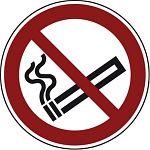 Verbotsschild PVC-Folie,200 mm Rauchen verboten