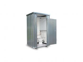 Toilettenbox mit Frischwasser- tank, 1400 x 1250 x 2425 mm