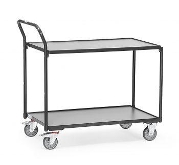 Tischwagen mit 2 Böden,Tragkr. 300 kg Ladefläche LxB: 1000 x 600 mm