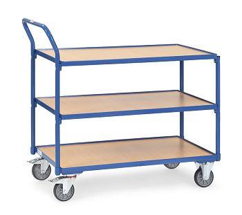 Tischwagen mit 3 Böden Ladefläche 850x500mm