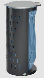 Abfallsammler Kompakt H 85 Inh. 80 l antik-silber