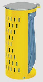 Abfallsammler Kompakt H 85 Inh. 80 l gelb