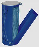 Abfallsammler Kompakt H 85 Inh. 80 l mit Klapptür enzianblau