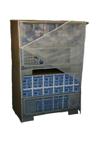 Abdeckhaube transparent, für 2 Gitterboxen,2 Reißverschl.