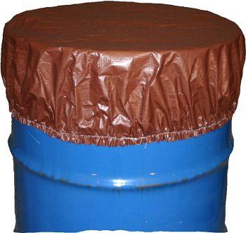 Abdeckhaube für 200L Fässer Durchm. 600mm, braun,VE=10Stck