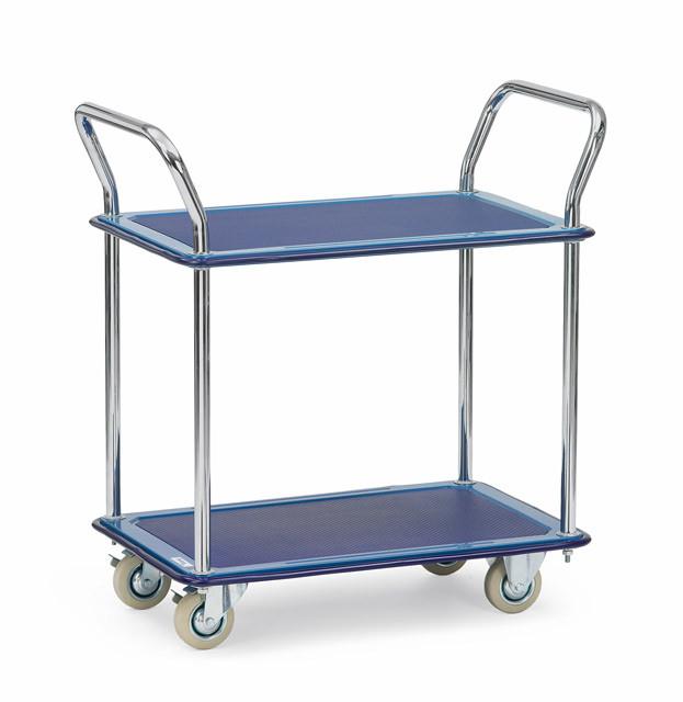 Ganzstahlwagen mit 2 Böden Tragkraft 120 kg