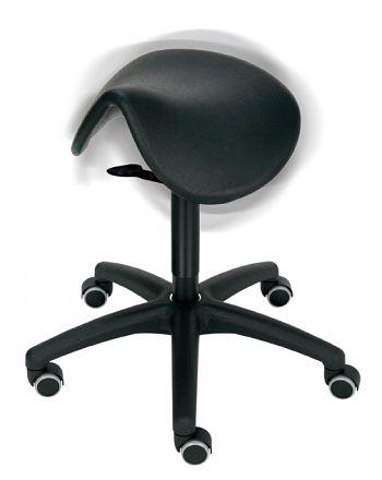 Sattelhocker Sitz PU schwarz bewegtes Sitzen