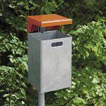 Abfallbehälter 50 ltr. Bef.für Mauer oder Pfosten