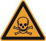 Warnschild PVC-Folie 200 mm Warnung vor giftigen Stoffen