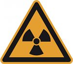 Warnschild PVC-Folie 200 mm Warnung vor radioaktiven Stoffen...