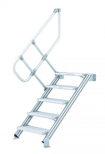 Z600 Leichtmetall-Treppe 60° 15 Stufen, 1000 mm breit, Höhe 3,75 m