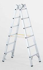 Sprossen-Stehleiter 2 x 6 Sprossen 1,78 m lang