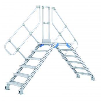 Z600 Leichtmetall-Überstieg 60° 10 Stufen, 800 mm breit, Höhe 2,38 m