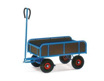 Handwagen mit 4 Wänden 2-Achser Ladefläche 945 x 545 mm