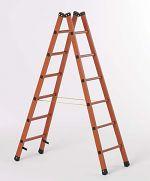 Vollkunststoff-Sprossen- Stehleiter, 2x14 Sprossen