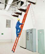 Kunststoff-Seilzugleiter, 2-tlg. 2 x 14 Sprossen