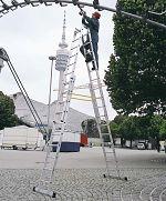 Stehleiter, höhenverstellbar u.treppengängig 4 x 8 Sprossen