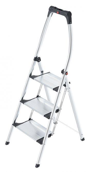 Alu-Komfort-Klapptritt 3 Stufen, Arbeitshöhe: 250 cm